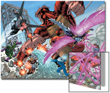 New Thunderbolts No.2 Group: Atlas, Mach IV, Songbird, Wrecking Crew and New Thunderbolts Print by Tom Grummett