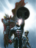 Secret Invasion No.8 Cover: Captain America, Wolverine and Thor Signe en plastique rigide par Gabriele DellOtto
