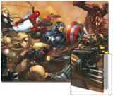 Ultimates No.3 Cover: Captain America Print by Joe Madureira