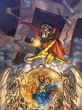 Marvel Team Up No.3 Cover: Dr. Strange and Fantastic Four Plastic Sign by Scott Kolins