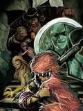 Thunderbolts No.167 Cover: Troll, Moonstone, Boomerang, and  Mr. Hyde in the Stairwell Plastic Sign by Mike Del Mundo