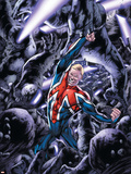 Captain Britain And MI: 13 No.8 Cover: Captain Britain Plastic Sign by Bryan Hitch