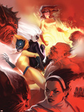 Marvel Divas No.4 Cover: Hellcat, Black Cat, Firestar and Photon Plastic Sign