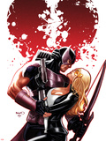 Hawkeye & Mockingbird No.6 Cover: Hawkeye and Mockingbird Hugging Wall Decal by Paul Renaud