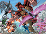 New Thunderbolts No.2 Group: Atlas, Mach IV, Songbird, Wrecking Crew and New Thunderbolts Plastic Sign by Tom Grummett