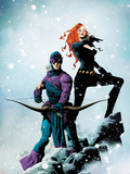 Widowmaker No.1 Cover: Hawkeye and Black Widow Posing Plastic Sign by Jae Lee