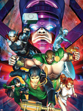 Chaos War No.2 Cover: Amadeus Cho, Hercules, Thor, Silver Surfer, Galactus, Venus, and Sersi Plastic Sign by Brandon Peterson