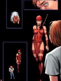 Shadowland No.5: Elektra Walking Wall Decal by Billy Tan