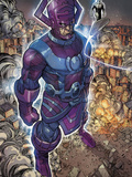 Chaos War No.2: Galactus and Silver Surfer Standing Art by Khoi Pham