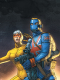 The New Invaders No.5 Cover: Union Jack and Spitfire Plastic Sign by Scott Kolins