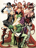 Women of Marvel No.1 Cover: Enchantress, Black Cat, Medusa, and Satana Posing Wall Decal by Sara Pichelli