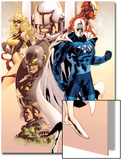 Adam: Legend Of The Blue Marvel No.1 Cover: Blue Marvel, Yellowjacket, Ms. Marvel and Iron Man Print by Mat Broome