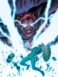 Herc No.9 Cover: Hercules and Zeus Fight in Lightning and Energy Plastic Sign by Tom Grummett