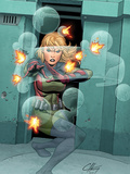 Marvel Adventrues Super Heroes No.7 Cover: Invisible Woman Crouching Prints by Clayton Henry