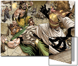 Assault on New Olympus Prologue No.1 Group: Hercules, Zeus, Amatsu-Mikaboshi, Ares and Phobos Posters by Rodney Buchemi