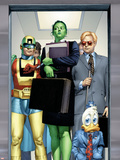 She-Hulk No.8 Cover: She-Hulk, Howard the Duck, Murdock and Matt Plastic Sign