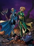 New Exiles No.16 Cover: Madame Hydra and Lilandra Prints by Tim Seeley