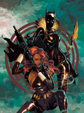 Klaws of The Panther No.4 Cover: Black Widow and Black Panther Posing Plastic Sign by Mike Del Mundo
