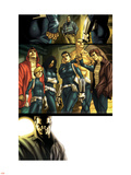 Dark Reign: New Nation No.1 Group: Quake, Phobos, Druid, Yo Yo, Hellfire and Stonewall Plastic Sign by Carlo Pagulayan