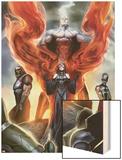Realm of Kings Inhumans No.1 Cover: Medusa, Karnak and Gorgon Wood Print by Stjepan Sejic