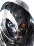 Shadowland: Moon Knight No.3 Cover: Moon Knight Posing Plastic Sign by Francesco Mattina