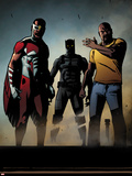 Black Panther: The Most Dangerous Man Alive No.526: Falcon, Black Panther, and Luke Cage Wall Decal by Shawn Martinbrough