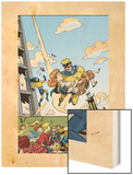 The Age Of The Sentry No.4 Cover: Sentry Wood Print by Dave Bullock