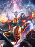 The Thanos Imperative No.5 Cover: Nova, Quasar, Gladiator, and Silver Surfer Flying Wall Decal by Aleksi Briclot