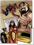Assault on New Olympus Prologue No.1 Group: Hercules, Spider Woman, Spider-Man and Wolverine Prints by Rodney Buchemi