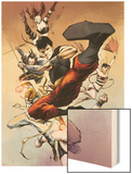 Spider-Island: Deadly Hands of Kung Fu No.3: Shang-Chi Fighting and Kicking Wood Print by Sebastian Fiumara