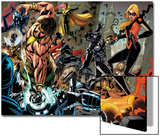 Realm of Kings Inhumans No.2 Group: Wasp, Hercules, U.S. Agent, Vision and Stature Print by Pablo Raimondi