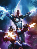 The Thanos Imperative No.6 Cover: Star-Lord and Nova Shooting Plastic Sign by Aleksi Briclot