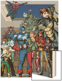 Marvel Holiday Special No.1 Group: Captain America Wood Print by Reilly Brown