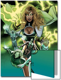 Squadron Supreme No.6 Cover: Arcanna, Amphibian and Dr. Spectrum Prints by Greg Land