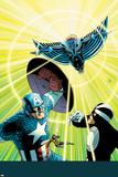 Uncanny Avengers 13 Cover: Captain America, Havok, Wasp, Banshee Plastic Sign by John Cassaday