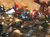 Ultimates No.3 Cover: Captain America Wandtattoo von Joe Madureira