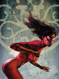 Spider-Woman No.2 Cover: Spider Woman Znaki plastikowe autor Alex Maleev