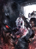 Shadowland: Blood on the Streets No.4 Cover: Shroud, Misty Knight, and Silver Sable Posing Plastic Sign by Francesco Mattina