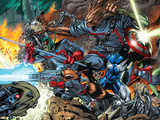 Guardians Of The Galaxy No.7 Group: Major Victory, Groot, Bug and Rocket Raccoon Plastic Sign by Paul Pelletier