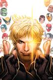 Longshot Saves the Marvel Universe 1 Cover: Longshot, Captain America, Hulk, Cyclops, Thor Wall Decal by David Nakayama