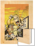 Monsters: Where Monsters Dwell No.1 Cover: Monstrollo, Bombu and Manoo Wood Print by Eric Powell