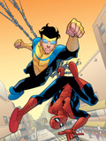 Marvel Team-Up 14 Cover: Spider-Man and Invincible Plastic Sign by Cory Walker