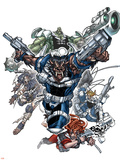 Nick Furys Howling Commandos No.1 Cover: Warwolf Wall Decal by Eduardo Francisco