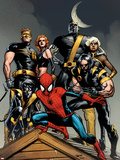 Ultimate Spider-Man No.120 Cover: Spider-Man, Wolverine, Nightcrawler, Cyclops, Phoenix & Colossus Wall Decal by Stuart Immonen