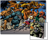 Marvel: Monsters On The Prowl No.1 Group: Fin Fang Foom, Mole Man, Moloids and Goom Prints by Duncan Fegredo