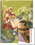 Warlock No.4 Cover: Adam Warlock, Chin and Janie Wood Print by Charlie Adlard