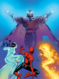 Ultimate Spider-Man No.119 Cover: Spider-Man, Firestar, Iceman and Magneto Wall Decal by Stuart Immonen