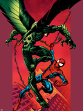 Ultimate Spider-Man No.90 Cover: Vulture and Spider-Man Plastic Sign by Mark Bagley