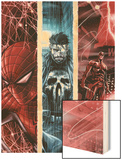 The Punisher No.10 Cover: Spider-Man, Punsiher, and Daredevil Wood Print by Marco Checchetto