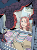 Spider-Man Loves Mary Jane No.4 Cover: Spider-Man, and Mary Jane Watson Plastic Sign by Takeshi Miyazawa